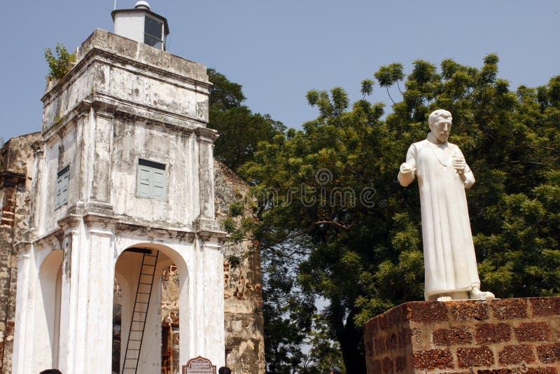 Malacca - St Francis Xavier standbeeld royalty-vrije stock fotografie
