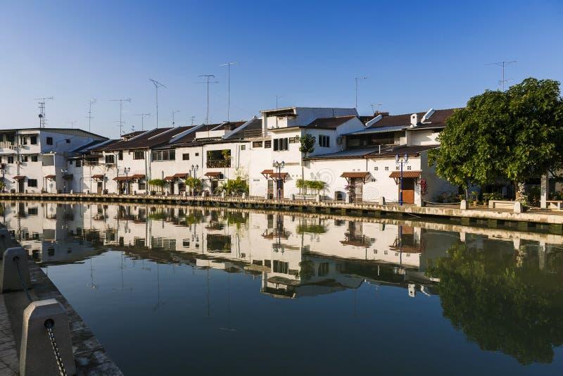 Malacca stad med huset arkivfoto