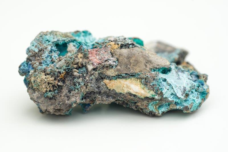 Malachite avec l'azurite image stock