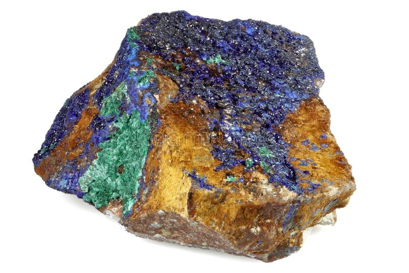 Malachite d'azurite photo libre de droits