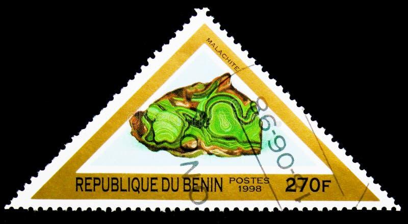 Malachite, minerais et serie de roches, vers 1998 photos libres de droits