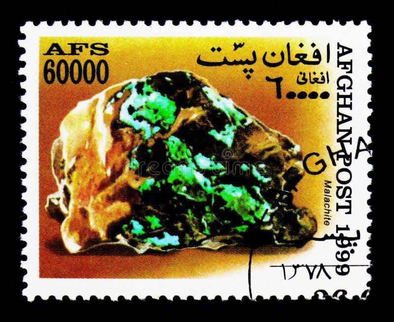 Malachite, serie de minerais, vers 1999 photographie stock