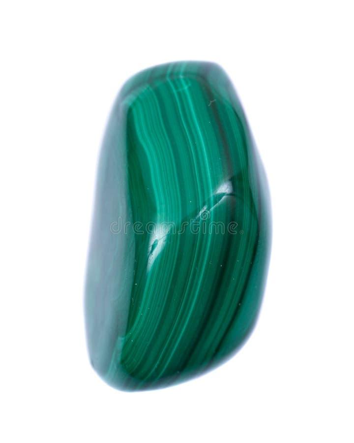 Malachite verte polie de forme gratuite de République démocratique du Congo, photographie stock