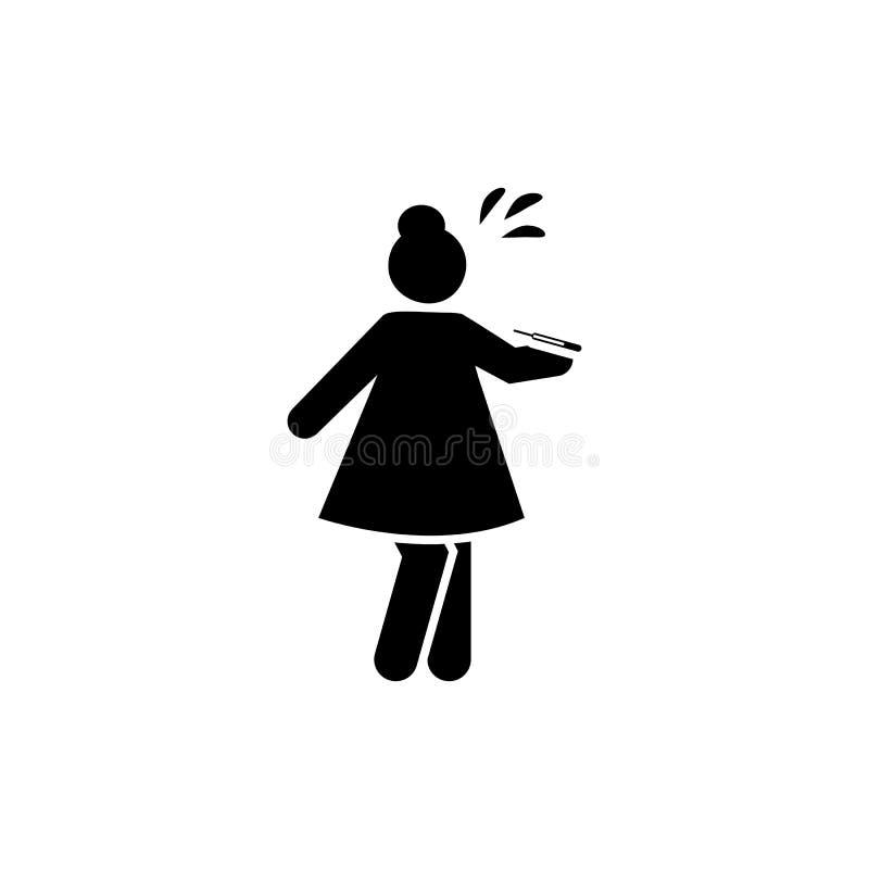 Malade, fièvre, défectuosité, icône de femme ?l?ment d'ic?ne syst?mique de lupu Ic?ne de la meilleure qualit? de conception graph illustration de vecteur