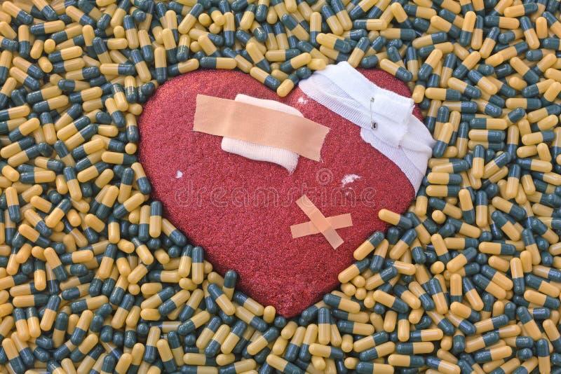 Maladie cardiaque et traitement photo stock