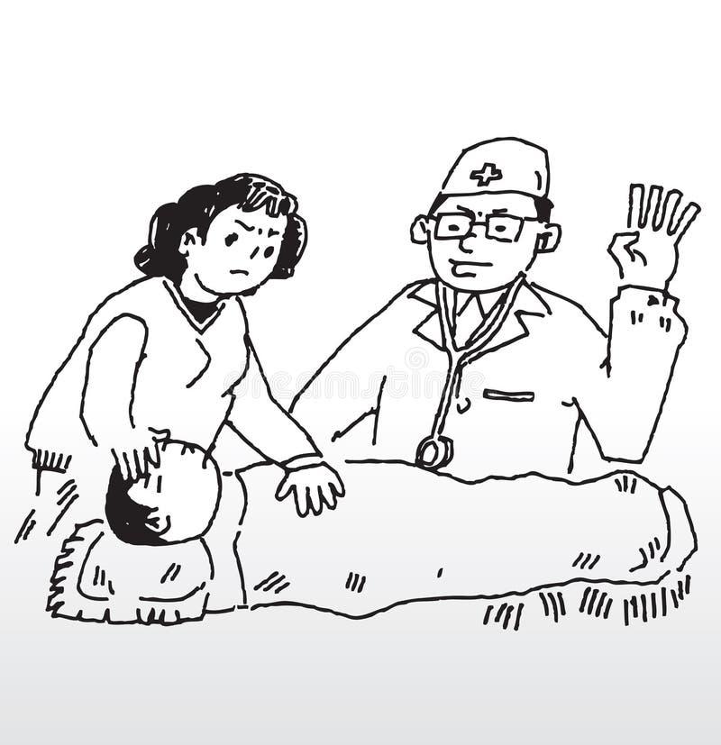 maladie de fièvre illustration de vecteur