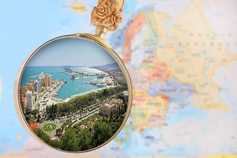 malaga Испания стоковое изображение