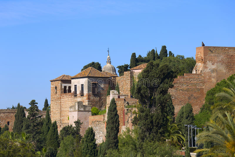 Malaga Alcazaba royalty free stock photos