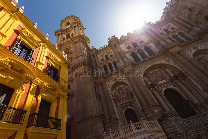 Historic buildings in Malaga. stock photos
