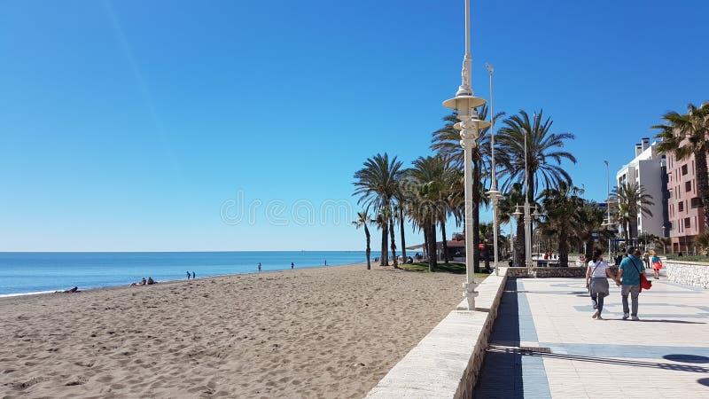 Malaga Beach royalty free stock photos