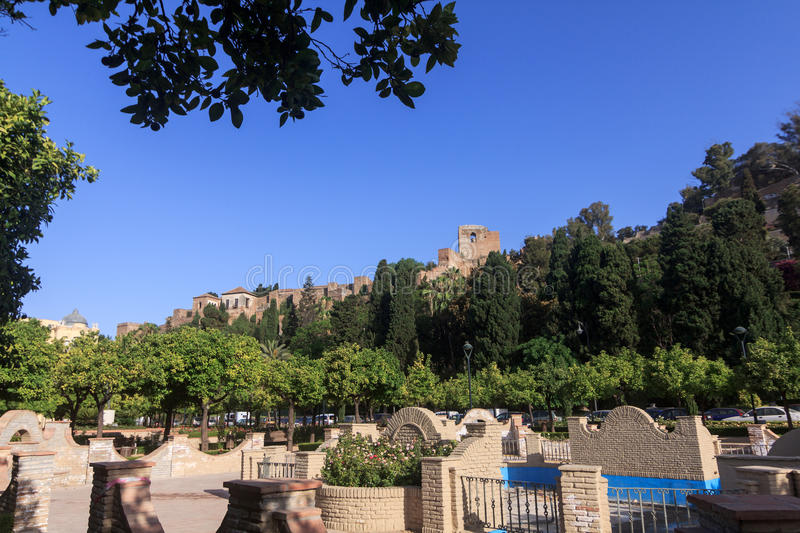 Download Malaga Castle stock photo. Image of ruins, building, tourism - 25682212