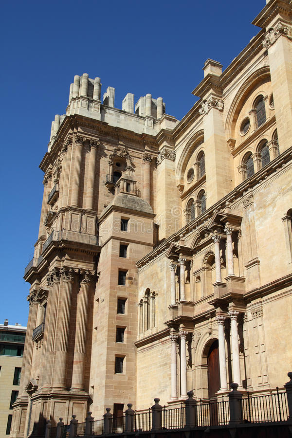 Download Malaga cathedral stock photo. Image of exterior, religious - 19037798