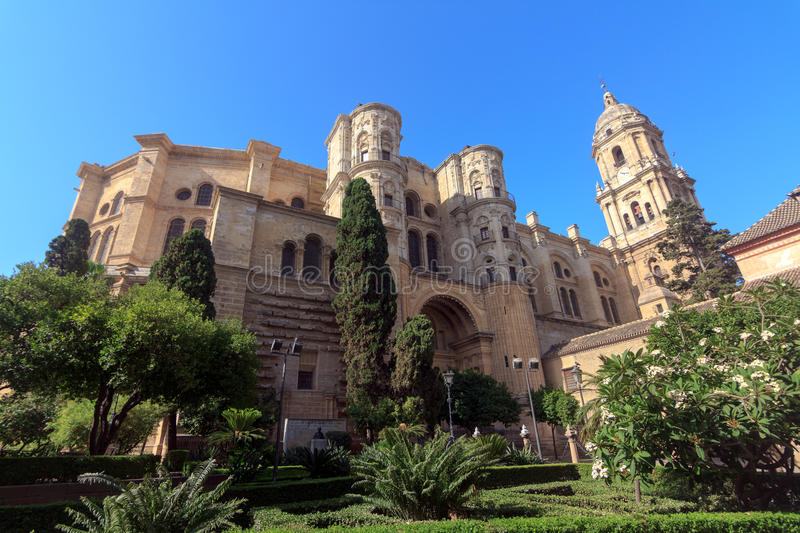 Malaga Cathedral. In Andalusia, southern Spain stock photography