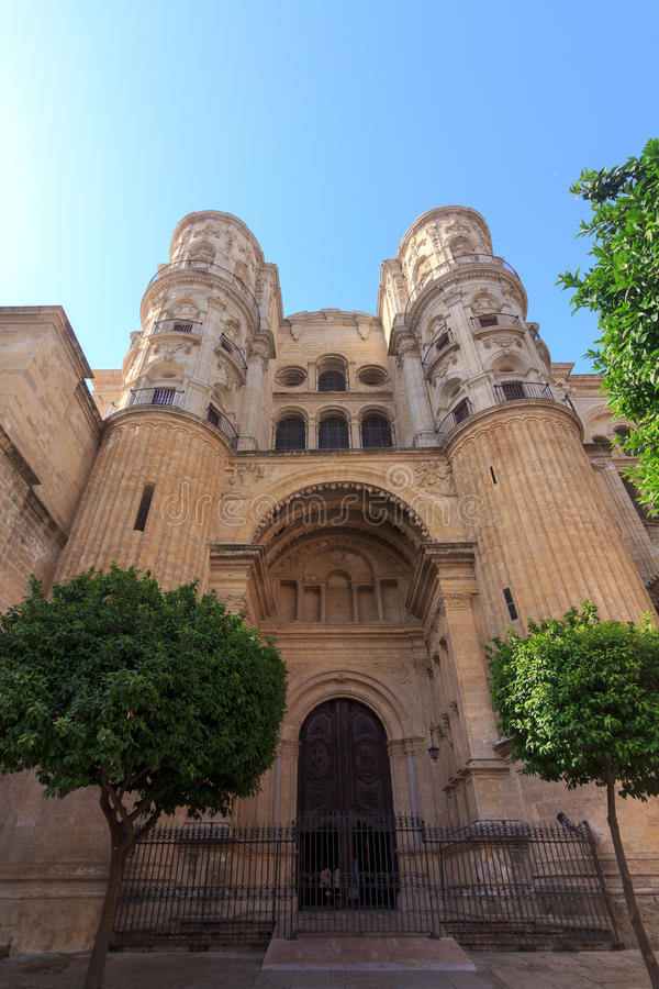 Malaga Cathedral. In Andalusia, southern Spain royalty free stock images