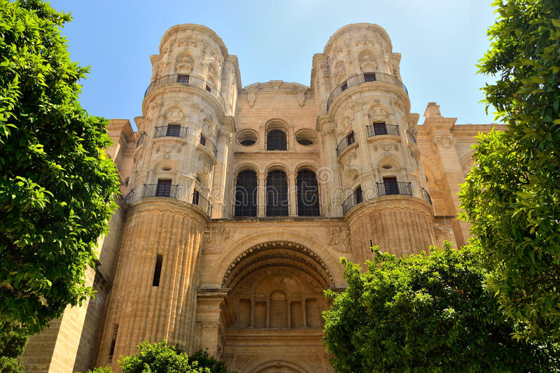 Download Malaga cathedral stock image. Image of cathedral, religion - 25950941