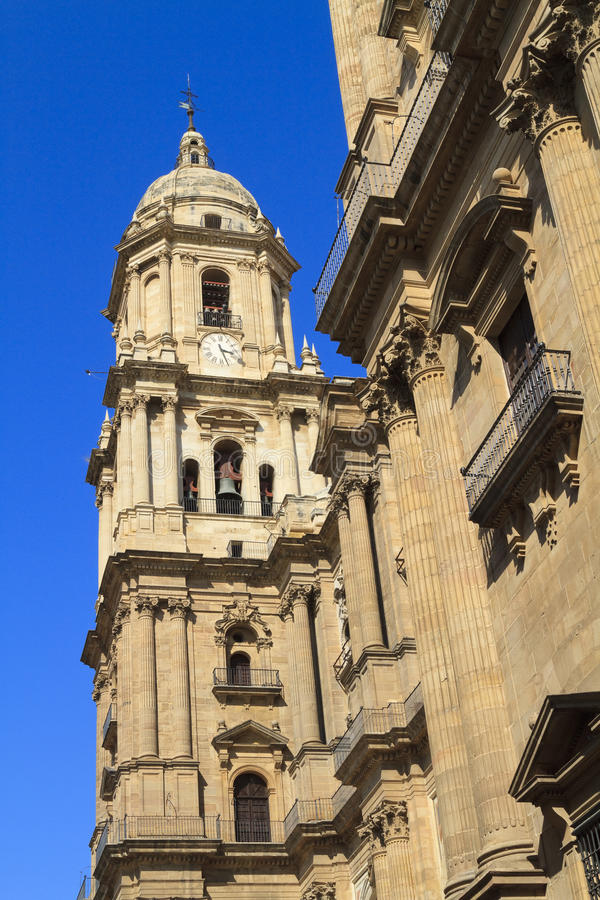 Download Malaga Cathedral Against A Deep Blue Sky Royalty Free Stock Image - Image: 18592826