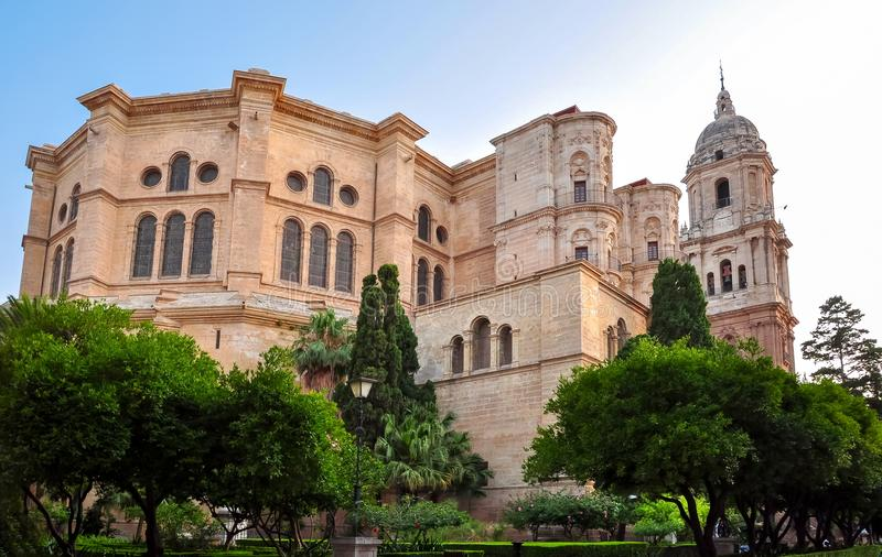 Malaga Cathedral, Andalusia, Spain. Malaga Cathedral in Andalusia, Spain stock photography