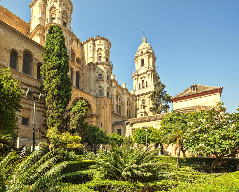 Malaga Cathedral in Andalusia. Malaga Cathedral in Andalusia, Spain royalty free stock photos