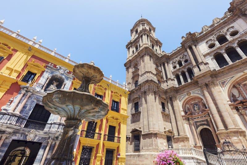 Malaga Cathedral. Malaga, Andalusia, Spain stock image