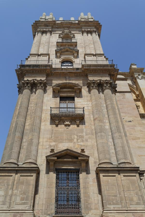 Malaga Cathedral. Image taken of Malaga Cathedral in Andalusia, southern Spain stock photo