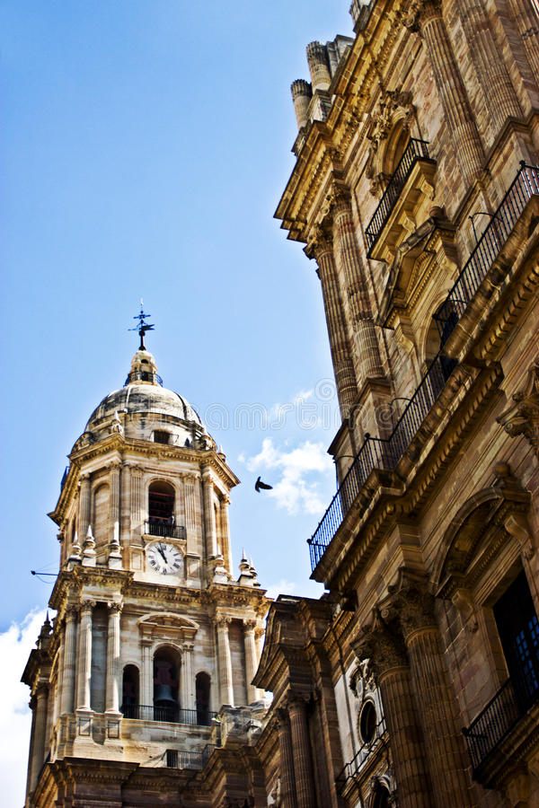 Download Malaga cathedral stock image. Image of bird, cupola, blue - 34018681