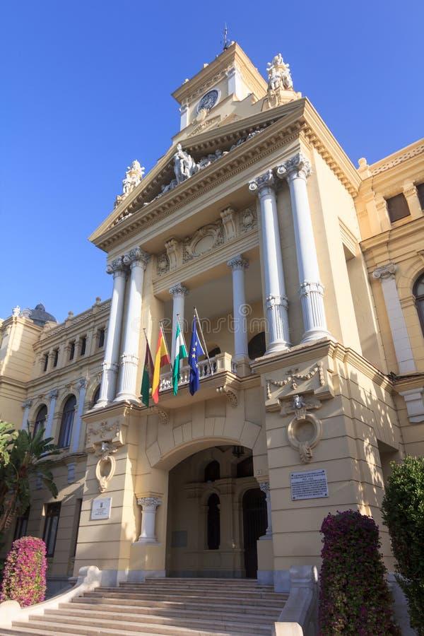 Download Malaga City Hall stock image. Image of spain, hall, facade - 25682205