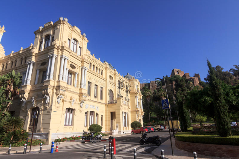 Download Malaga City Hall stock image. Image of architecture, sunny - 25682207