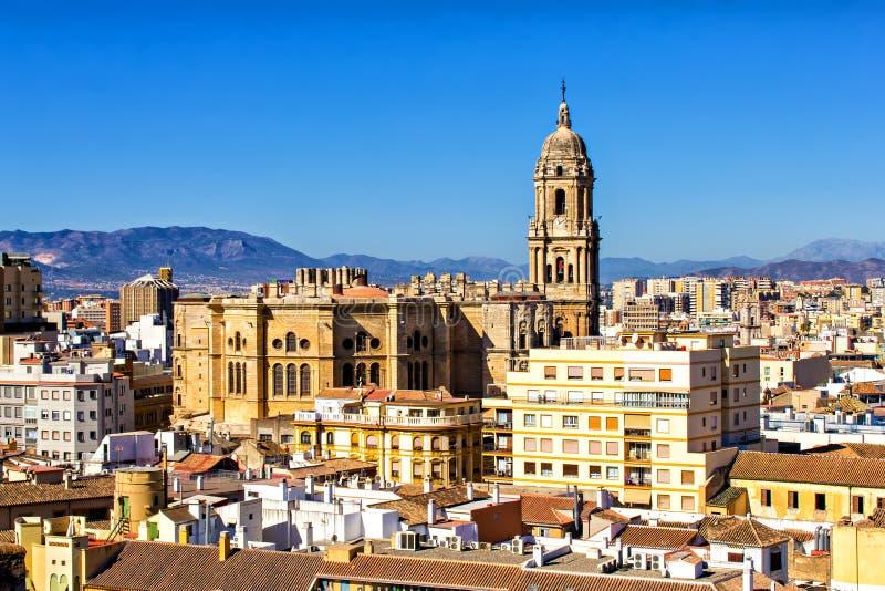 Malaga domkyrka royaltyfria foton