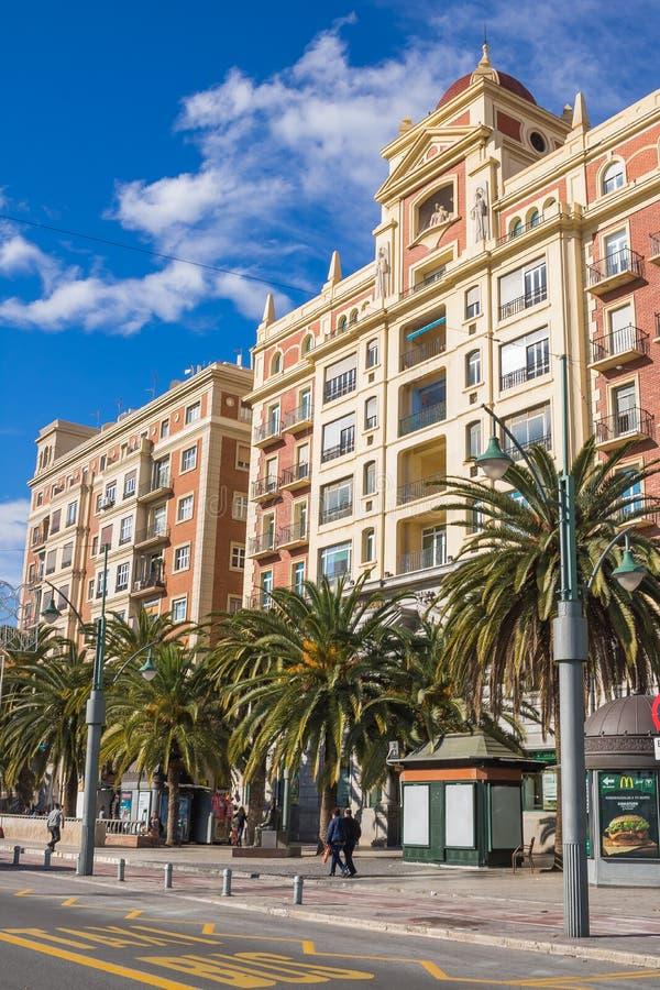 Malaga Downtown, Spain. Málaga is a municipality, capital of the Province of Málaga, in the Autonomous Community of Andalusia, Spain stock photos