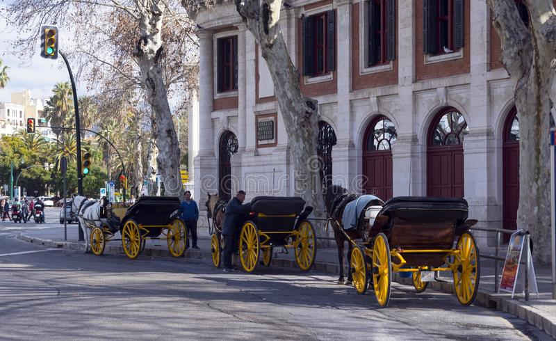 Malaga, Espagne, février 2019 photographie stock