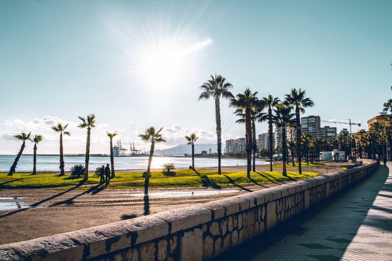 Malaga Espagne a tiré pendant un studytrip images stock