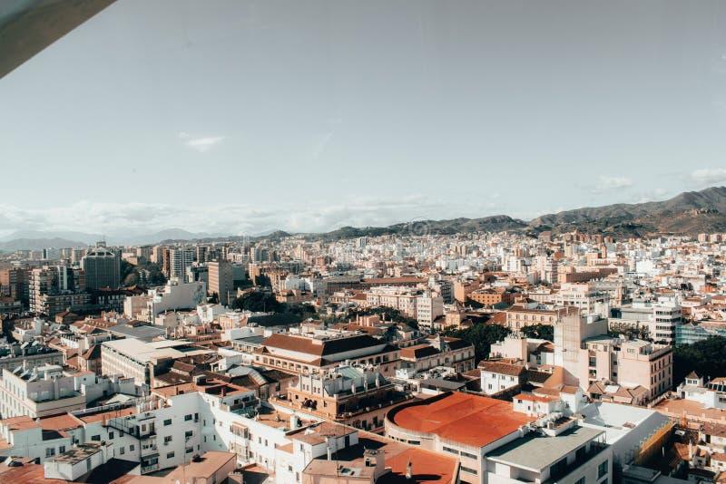 Malaga Espagne a tiré pendant un studytrip image libre de droits