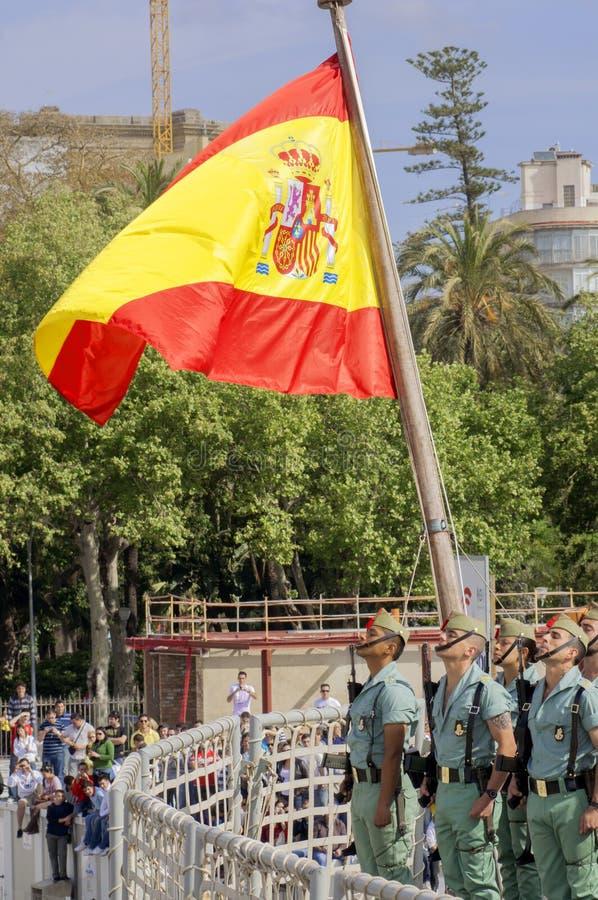 Download MALAGA HISZPANIA, KWIECIEŃ, - 09: Hiszpańszczyzny Legionarios Marsz Na Militar Obraz Stock Editorial - Obraz złożonej z świeczka, andalusia: 41952939