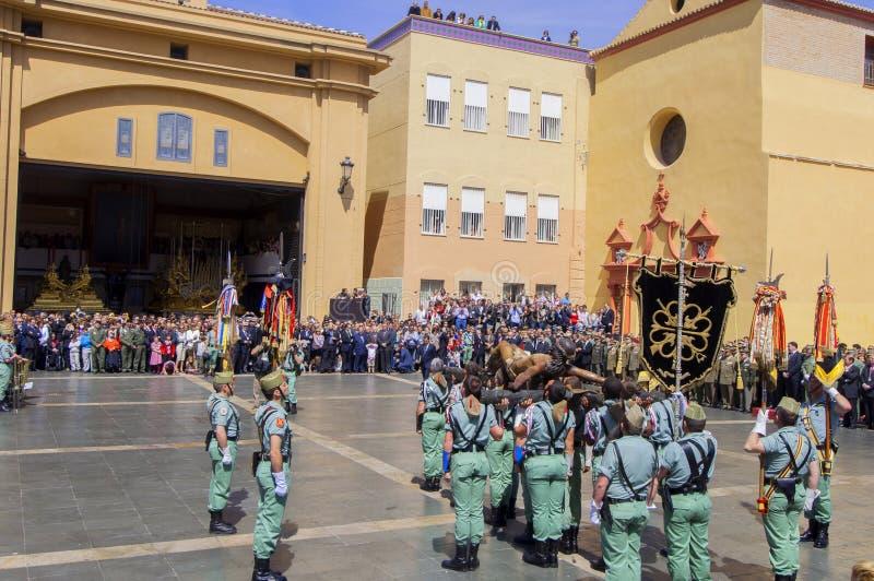 Download MALAGA HISZPANIA, KWIECIEŃ, - 09: Hiszpańszczyzny Legionarios Marsz Na Militar Fotografia Editorial - Obraz złożonej z oddany, linia: 41953237