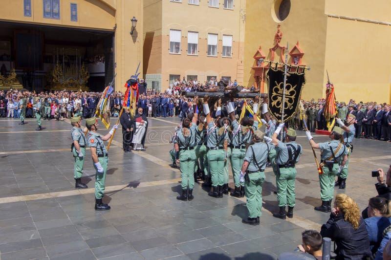 Download MALAGA HISZPANIA, KWIECIEŃ, - 09: Hiszpańszczyzny Legionarios Marsz Na Militar Obraz Editorial - Obraz złożonej z oddany, świętowanie: 41953280