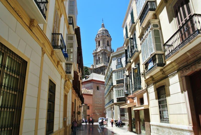 Malaga Hiszpania, Lipiec, - 2014 obraz stock
