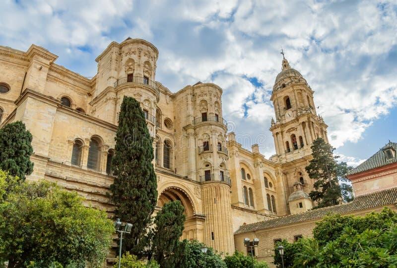 Malaga katedra w Andalusia, Hiszpania obrazy stock