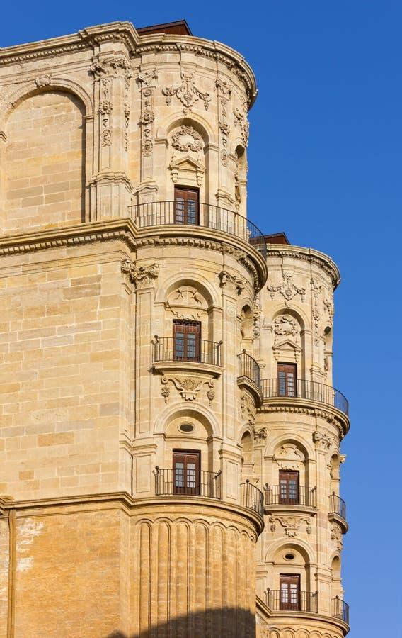 Malaga Katedralny Zewnętrzny szczegół zdjęcie royalty free