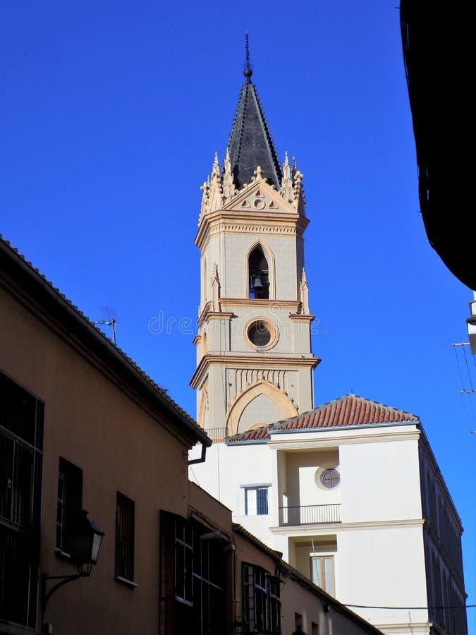 Malaga-kyrka av - LA-TRINIDAD arkivbild