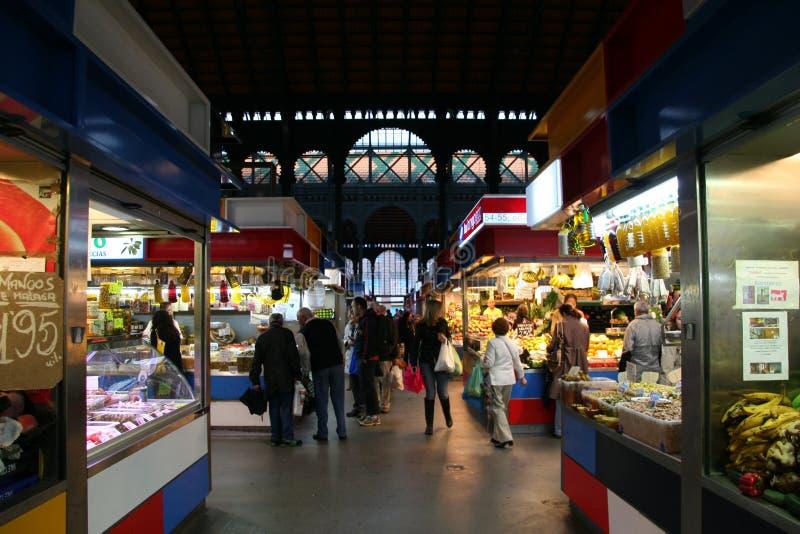 Malaga, markthal Atarazanas stock foto's