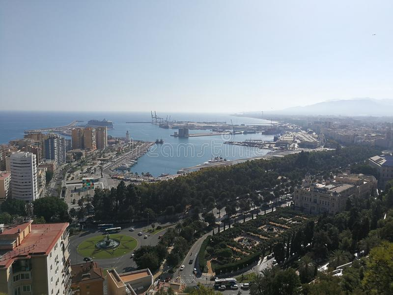 Malaga Port royalty free stock photo