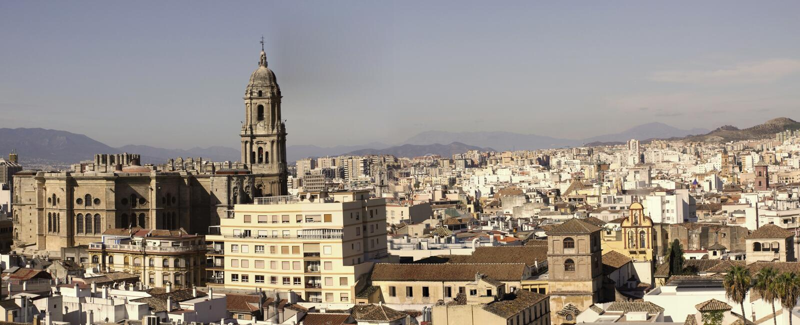 Malaga Panorama Stock Photography
