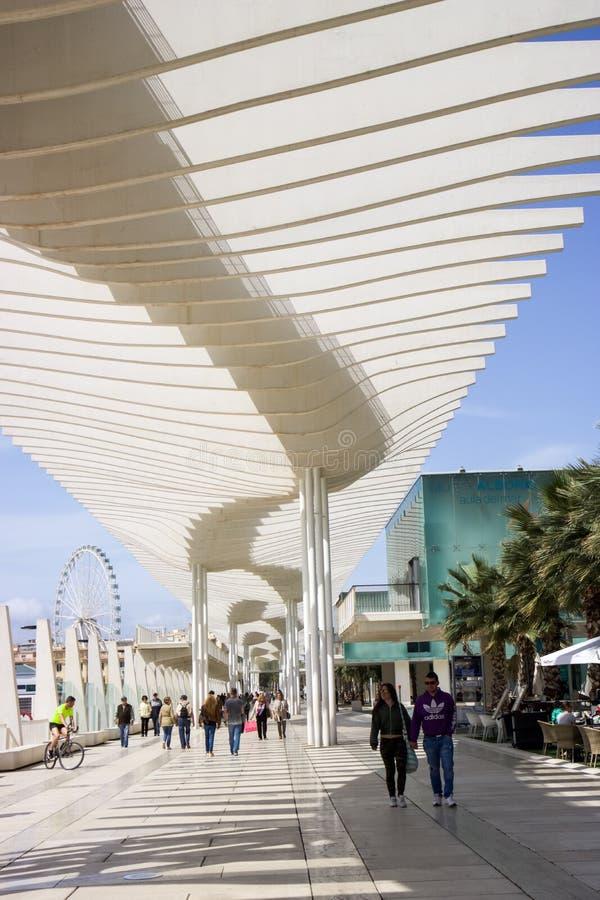 Malaga promenad royaltyfri bild