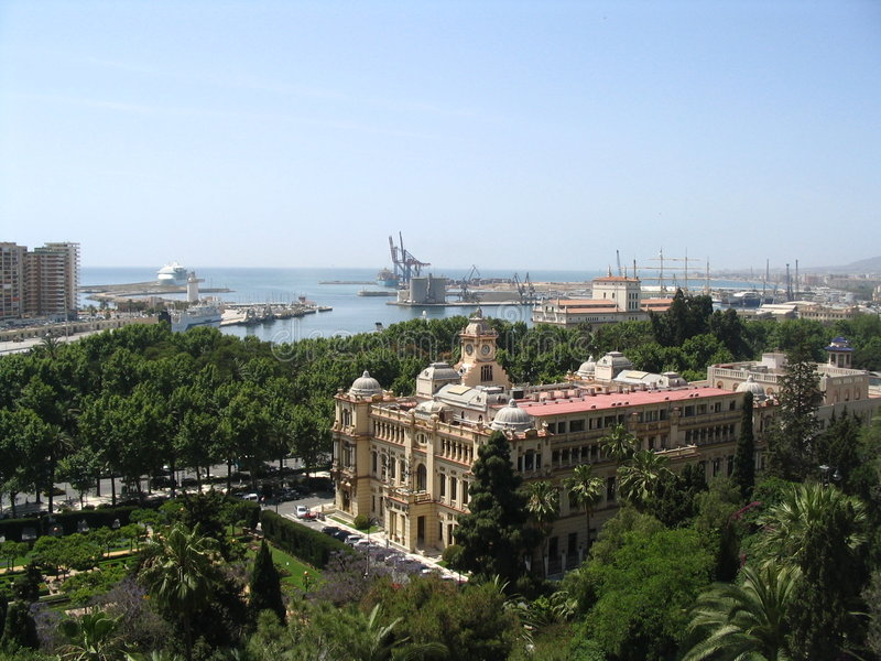 Download Malaga, seaport, Spain stock photo. Image of city, house - 862060