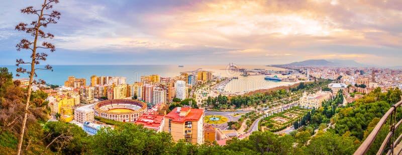Malaga from the skies stock photos