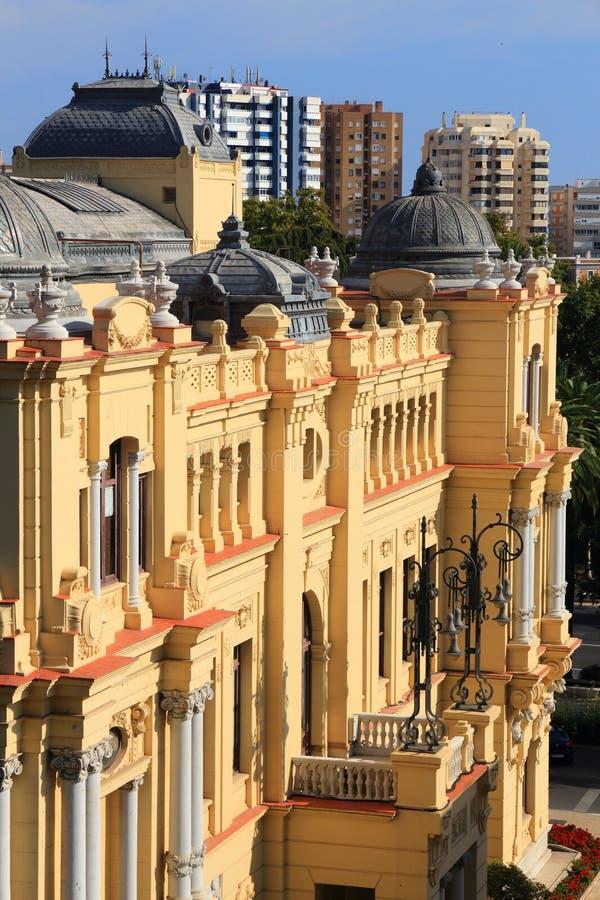 Malaga stadshus royaltyfri foto