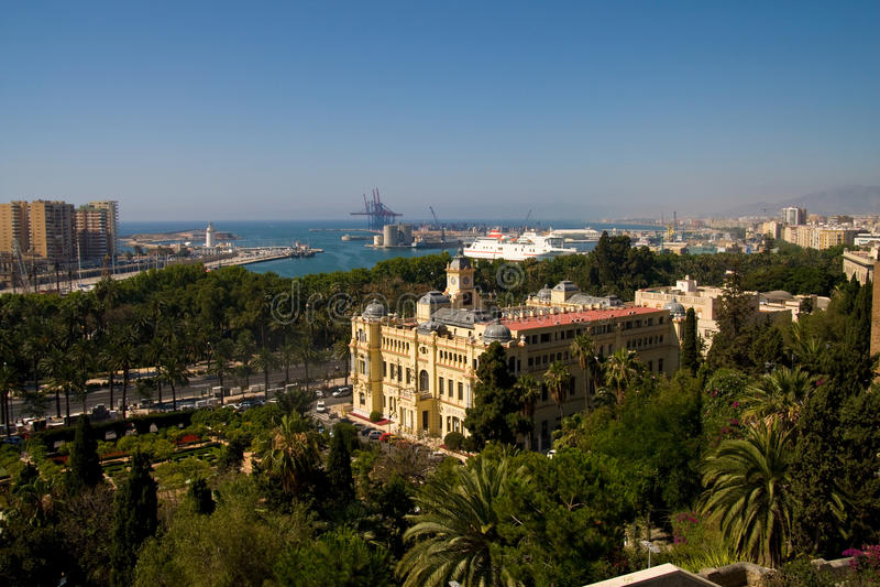 Malaga stadshus royaltyfri fotografi