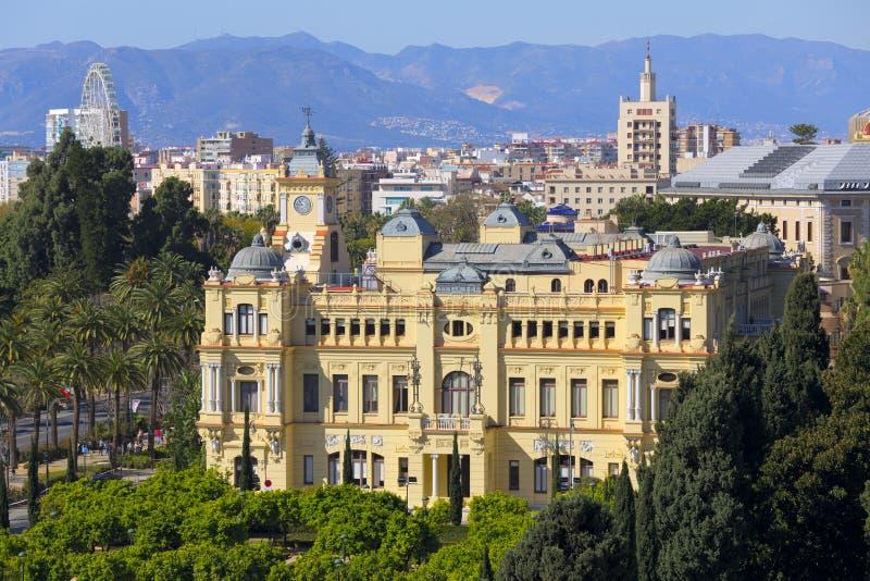 Malaga urząd miasta obraz stock