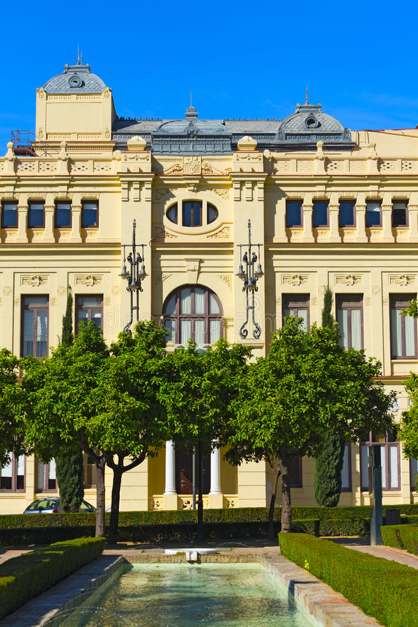 Malaga urząd miasta obrazy stock