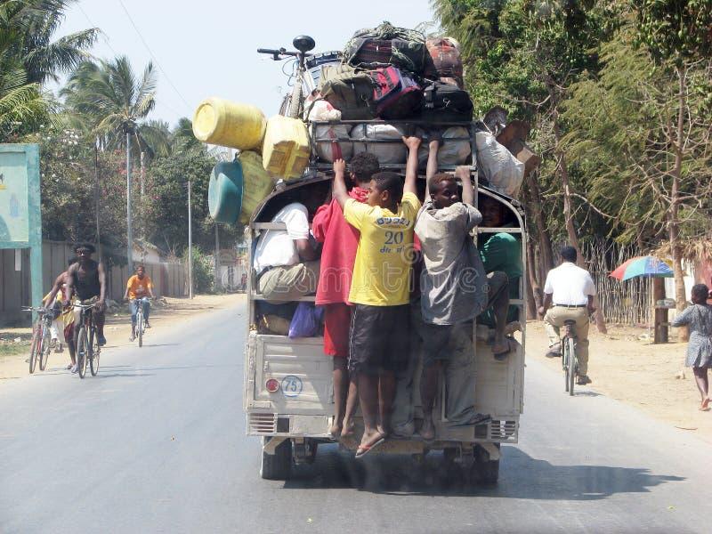 Malagasy μεταφορά στη αστική περιοχή στοκ εικόνα